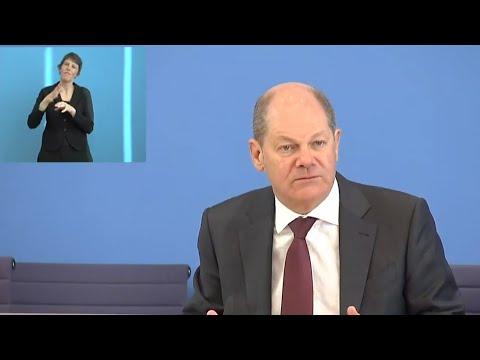 BPK: Finanzminister Olaf Scholz und Wirtschaftsminister Peter Altmaier am 23.03.2020