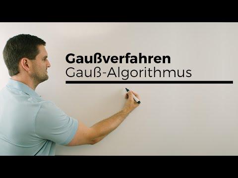 Gauß-Algorithmus, Gauß-Verfahren, Lineare Gleichungssysteme lösen, Gaußsches Eliminationsverfahren