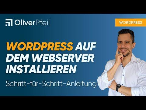 WordPress auf dem Webserver installieren ✅