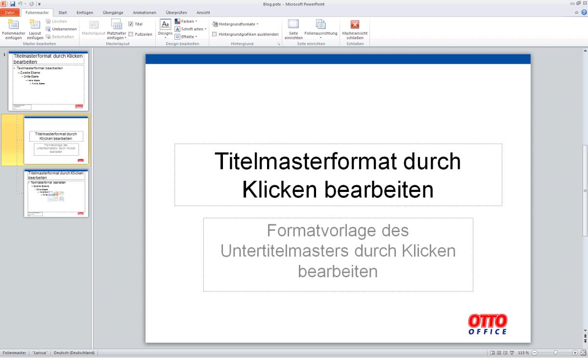PowerPoint – Masterlayout