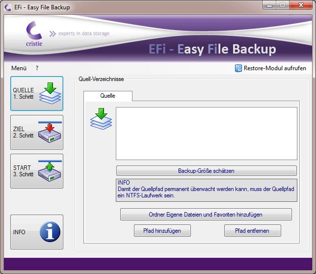 EFi-Quelle wählen