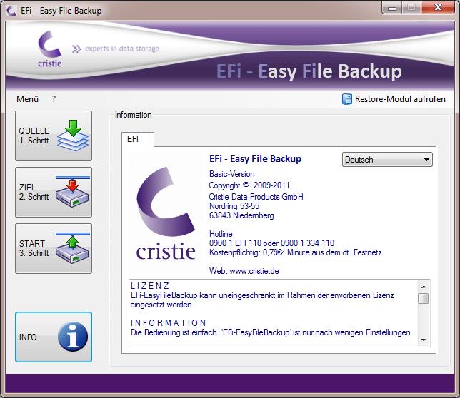 EFi-Startmenü