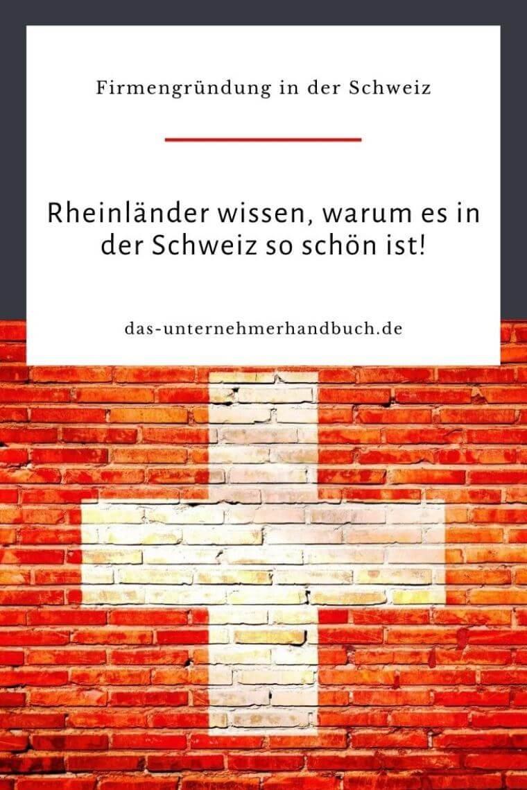 Firmengründung Schweiz