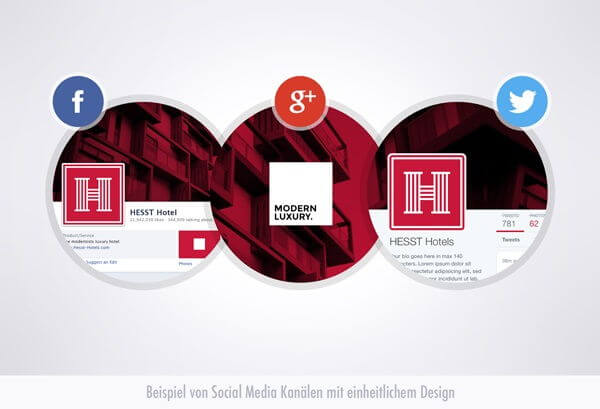 Social Media - einheitliches Design