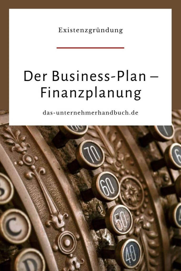 Business-Plan Finanzplanung