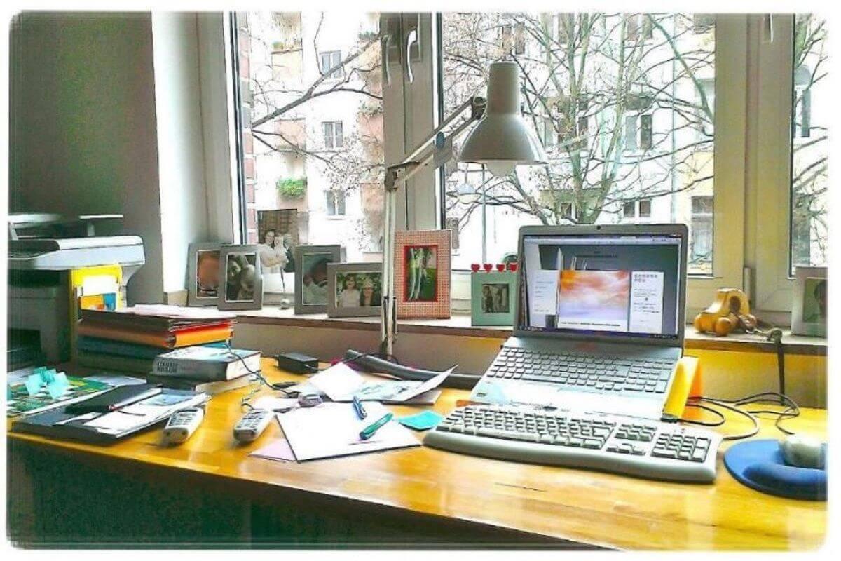 Bloggen Arbeitsplatz