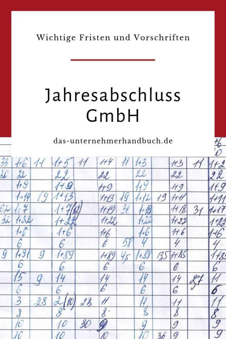 Jahresabschlus GmbH