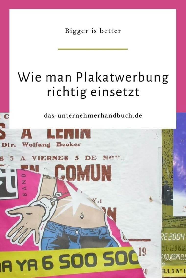 Plakatwerbung