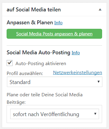 Blog2Social - Auto-Posting