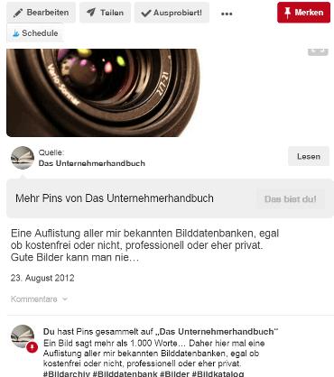Blog2Social - Pinterest - Text abgeschnitten