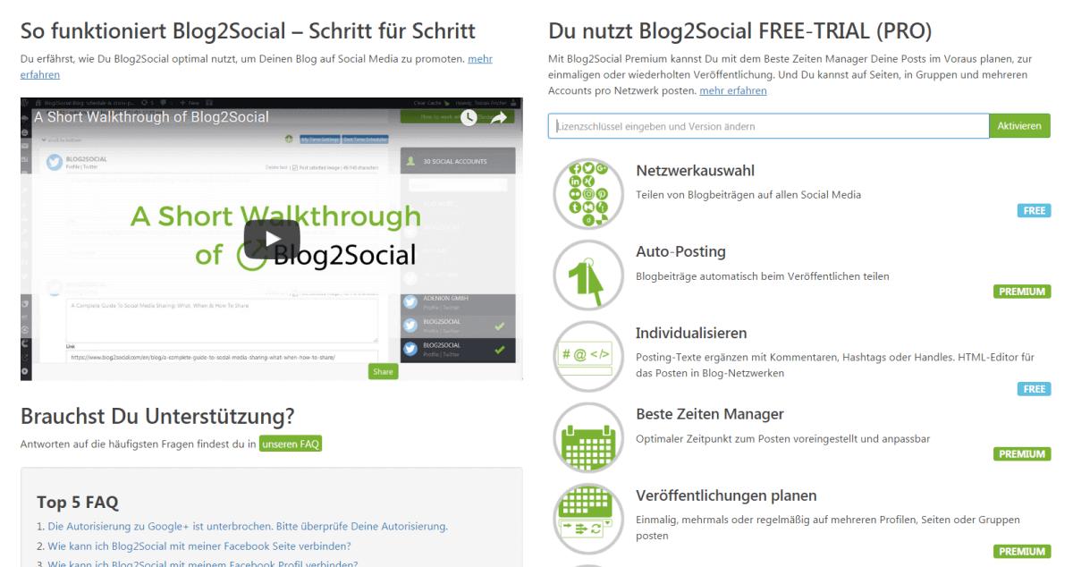 Blog2Social - Startseite