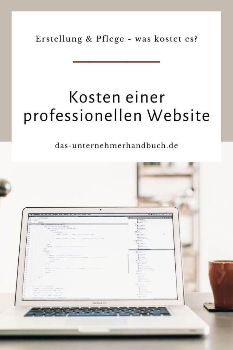 Website erstellen Kosten
