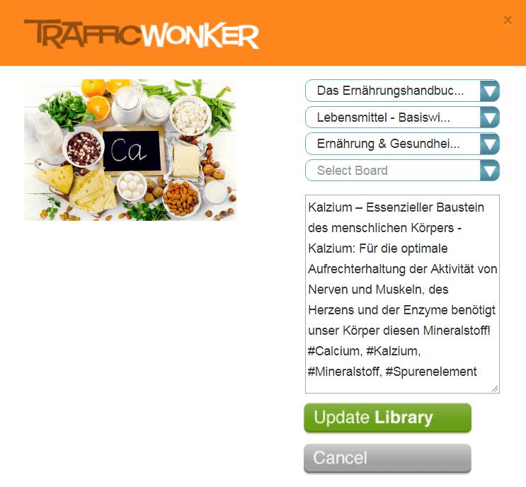 TrafficWonker - Pin bearbeiten