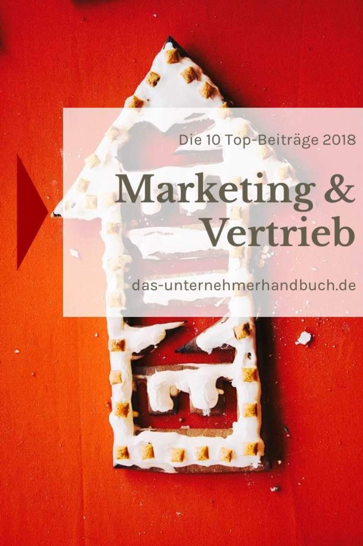 Marketing & Vertrieb: die 10 Top-Beiträge 2018
