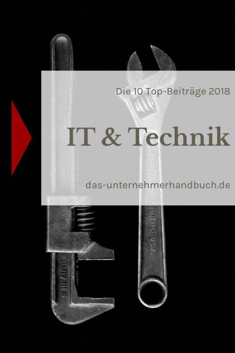 IT & Technik: die 10 Top-Beiträge 2018