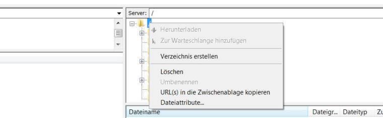 FTP-Verzeichnis anlegen