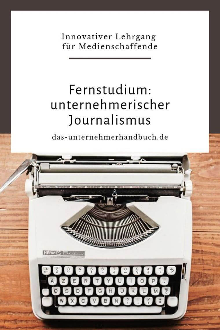 unternehmerischer Journalismus