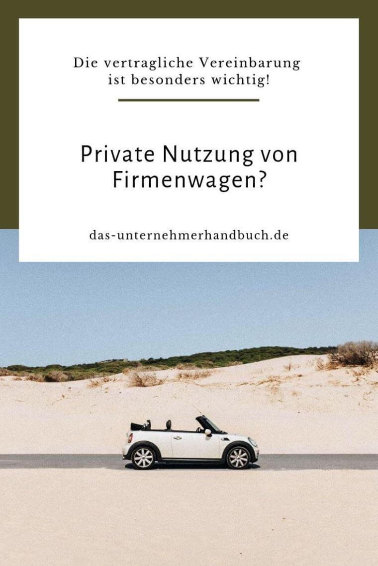 Private Nutzung von Firmenwagen
