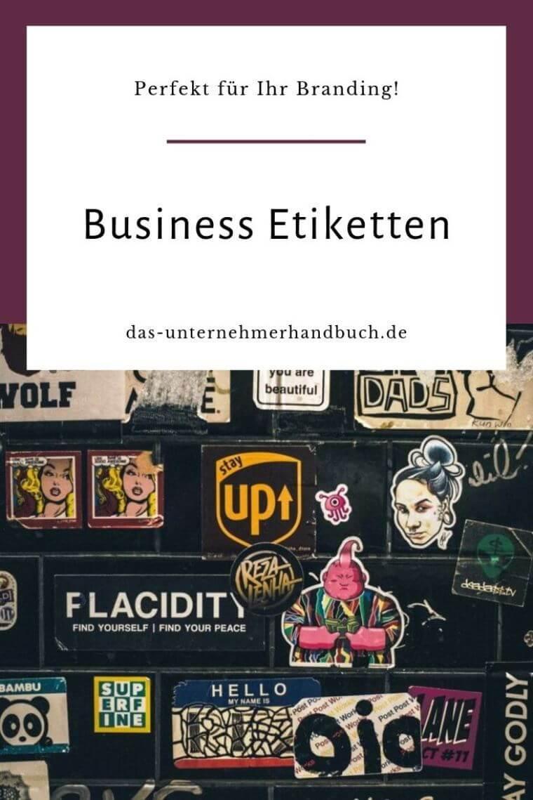 Business Etiketten