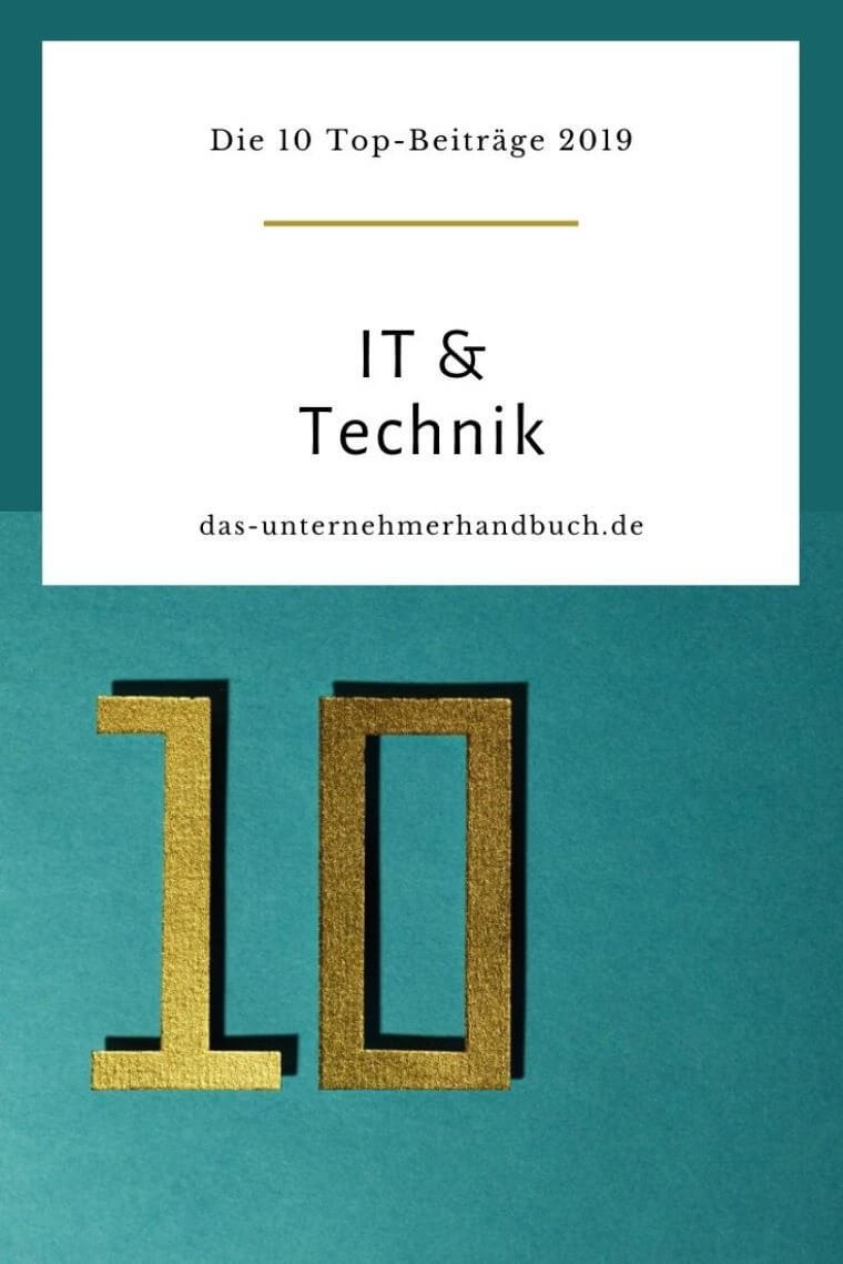 IT & Technik: die 10 Top-Beiträge 2019