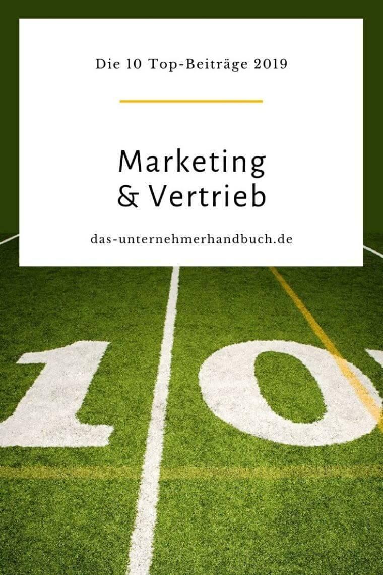 Marketing & Vertrieb: die 10 Top-Beiträge 2019