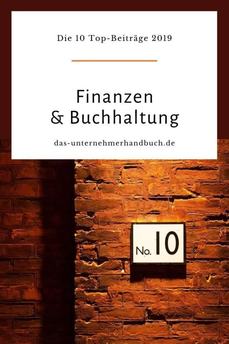 Finanzen & Buchhaltung: die 10 Top-Beiträge 2019