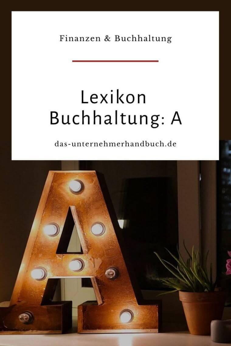 Lexikon Buchhaltung: A