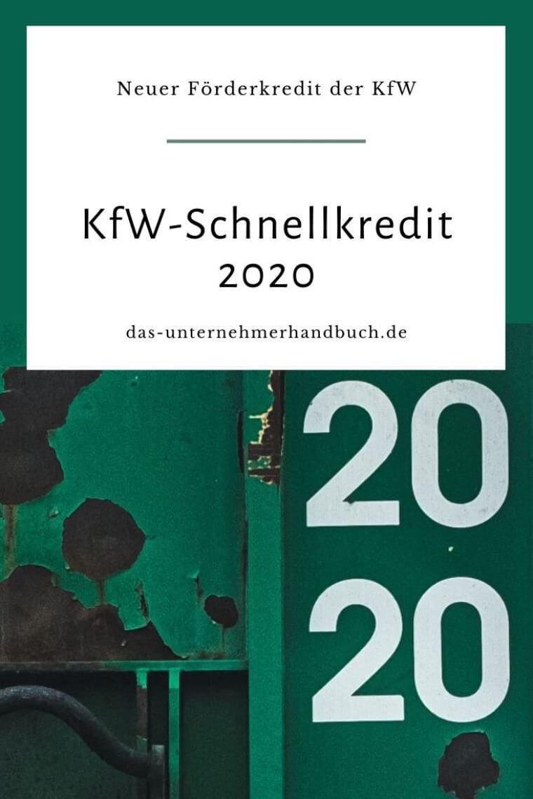 KfW-Schnellkredit 2020