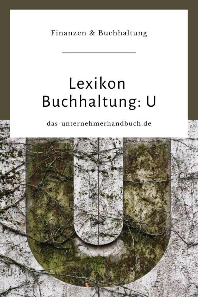 Lexikon Buchhaltung: U