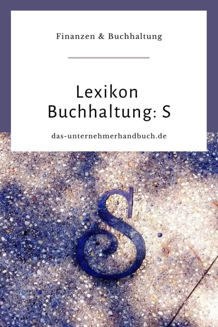 Lexikon Buchhaltung: S