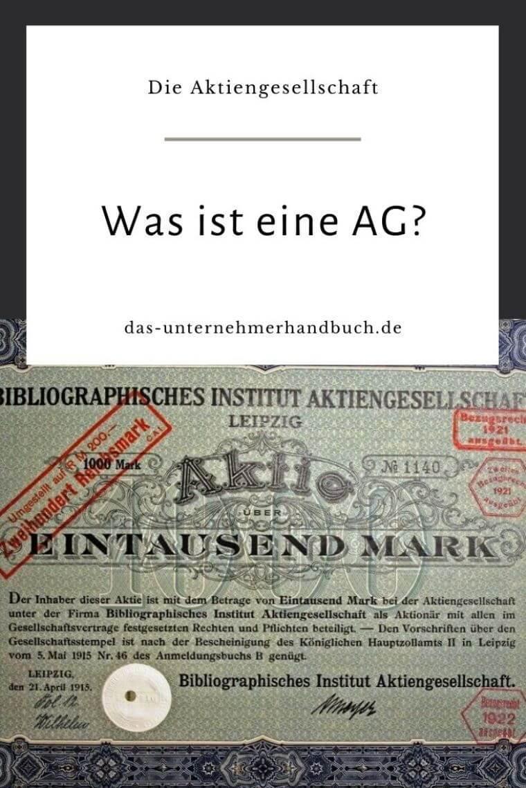 AG, Aktiengesellschaft