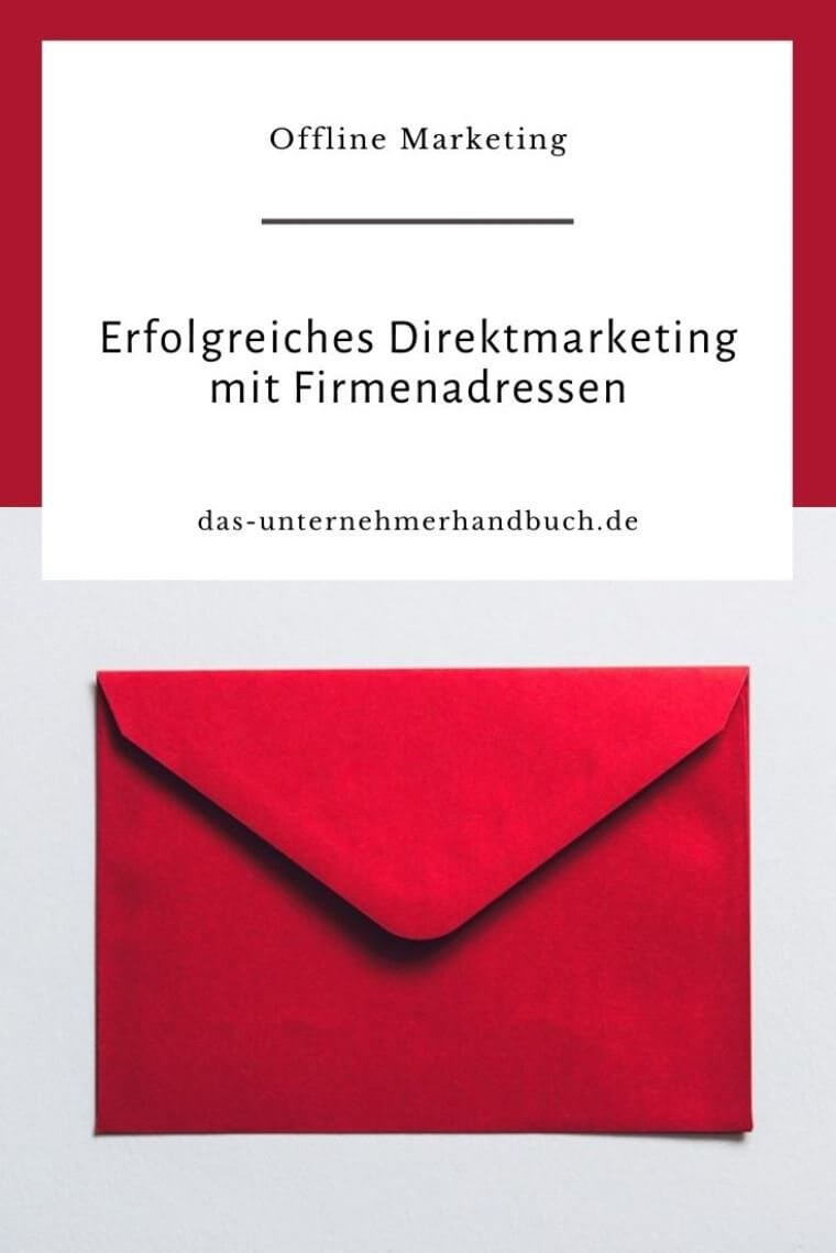 Direktmarketing, Firmenadressen