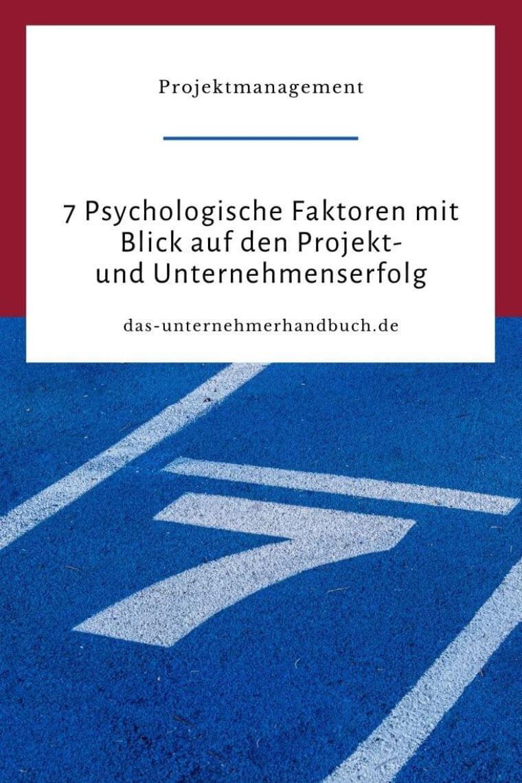 Projektmanagement, Psychologische Faktoren